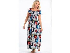 Dlouhé dámské letní šaty barevné