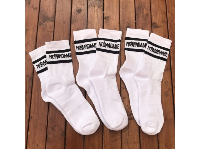 Ponožky Basic Socks White 3-pack  Ponožky