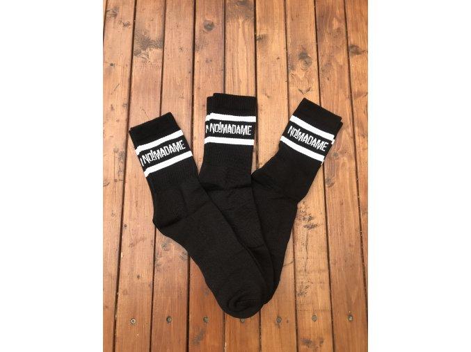 Ponožky Basic Socks Black 3-pack  Ponožky