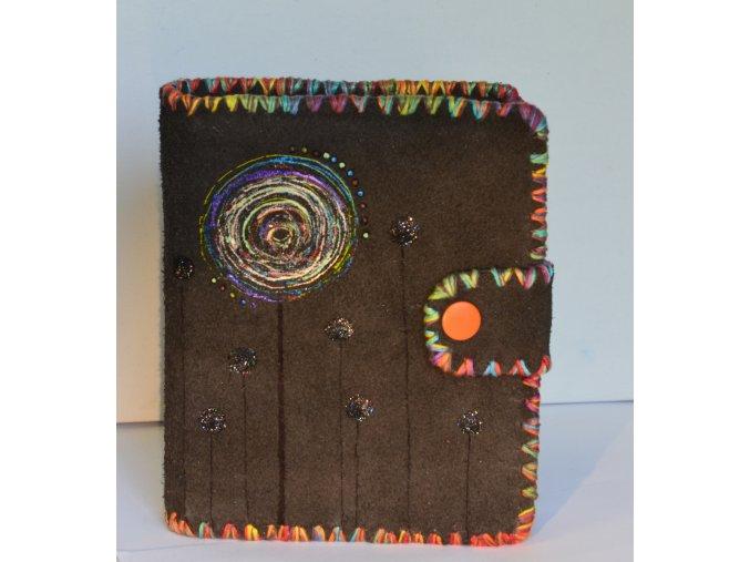 Vesmír - kabátek A6 + kroužkový blok a kniha