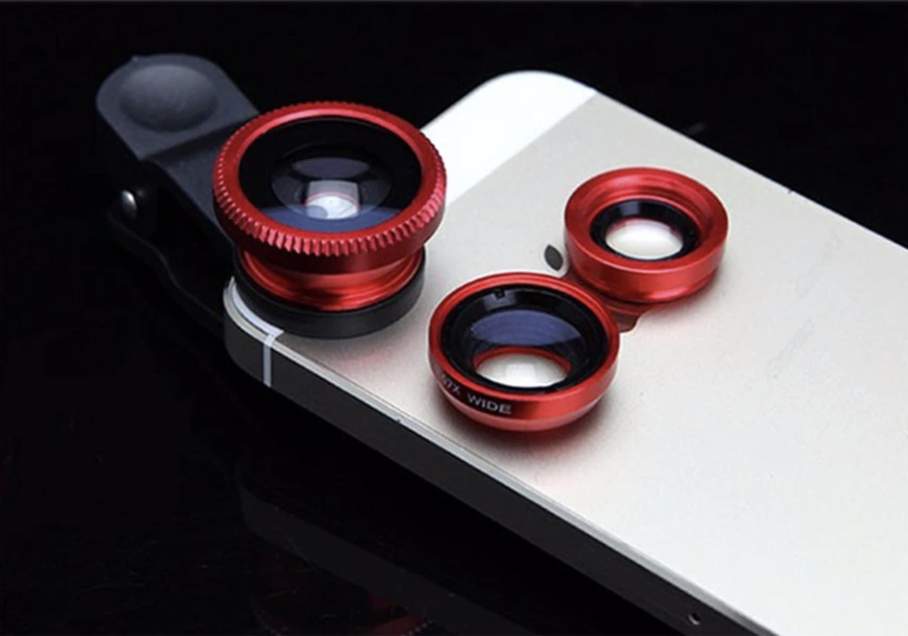 Sada objektivů pro mobilní telefony 3v1