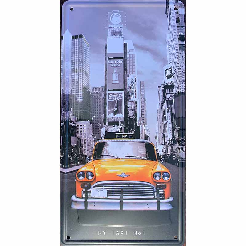Plechová cedule - New York Taxi (S)