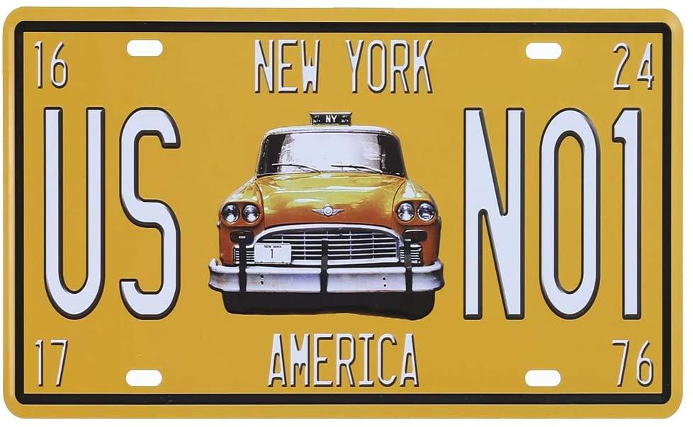 Plechová cedule - New York taxi US No.1 (S)