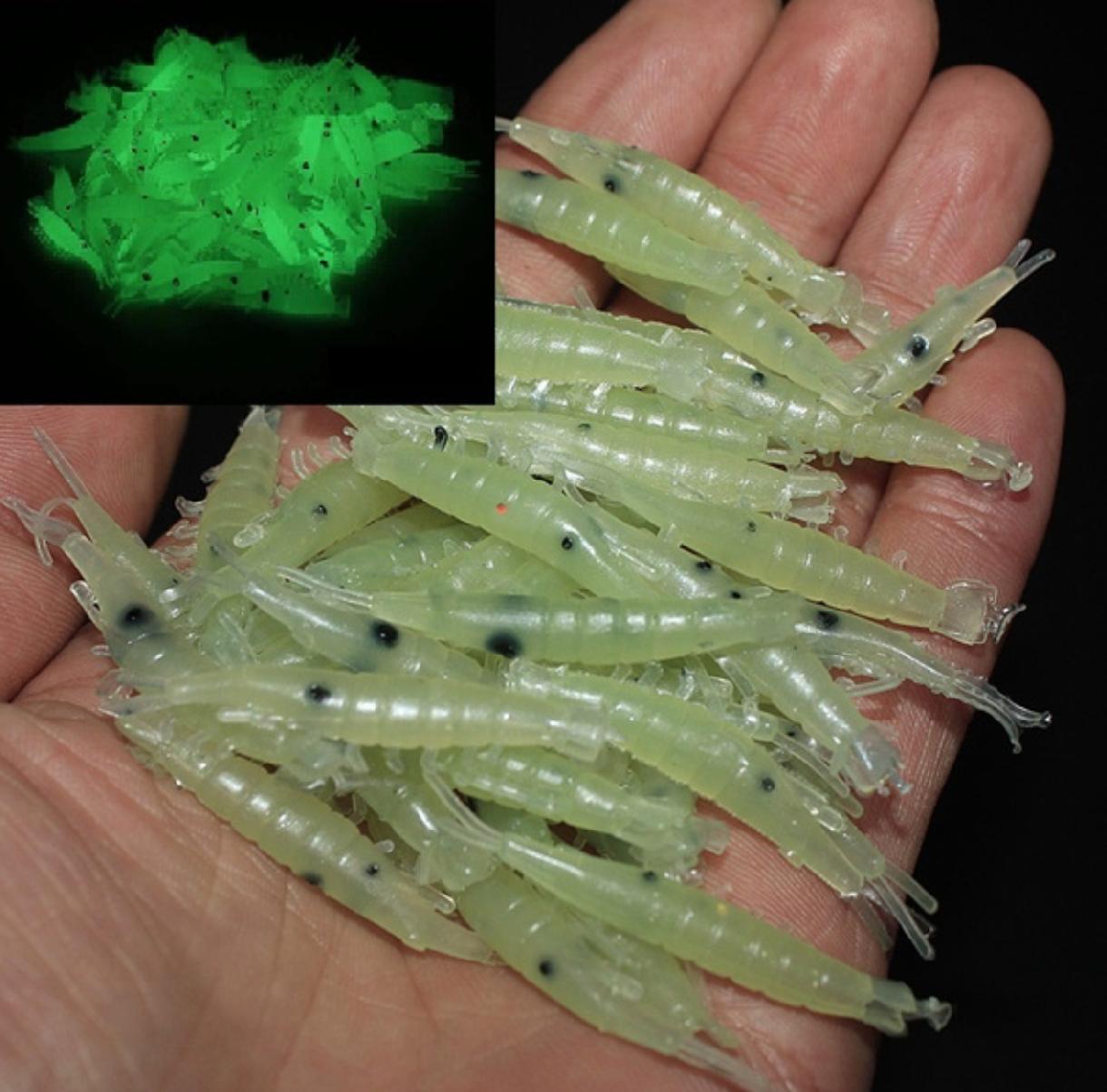 Rybářské návnady - měkké krevety svítící ve tmě