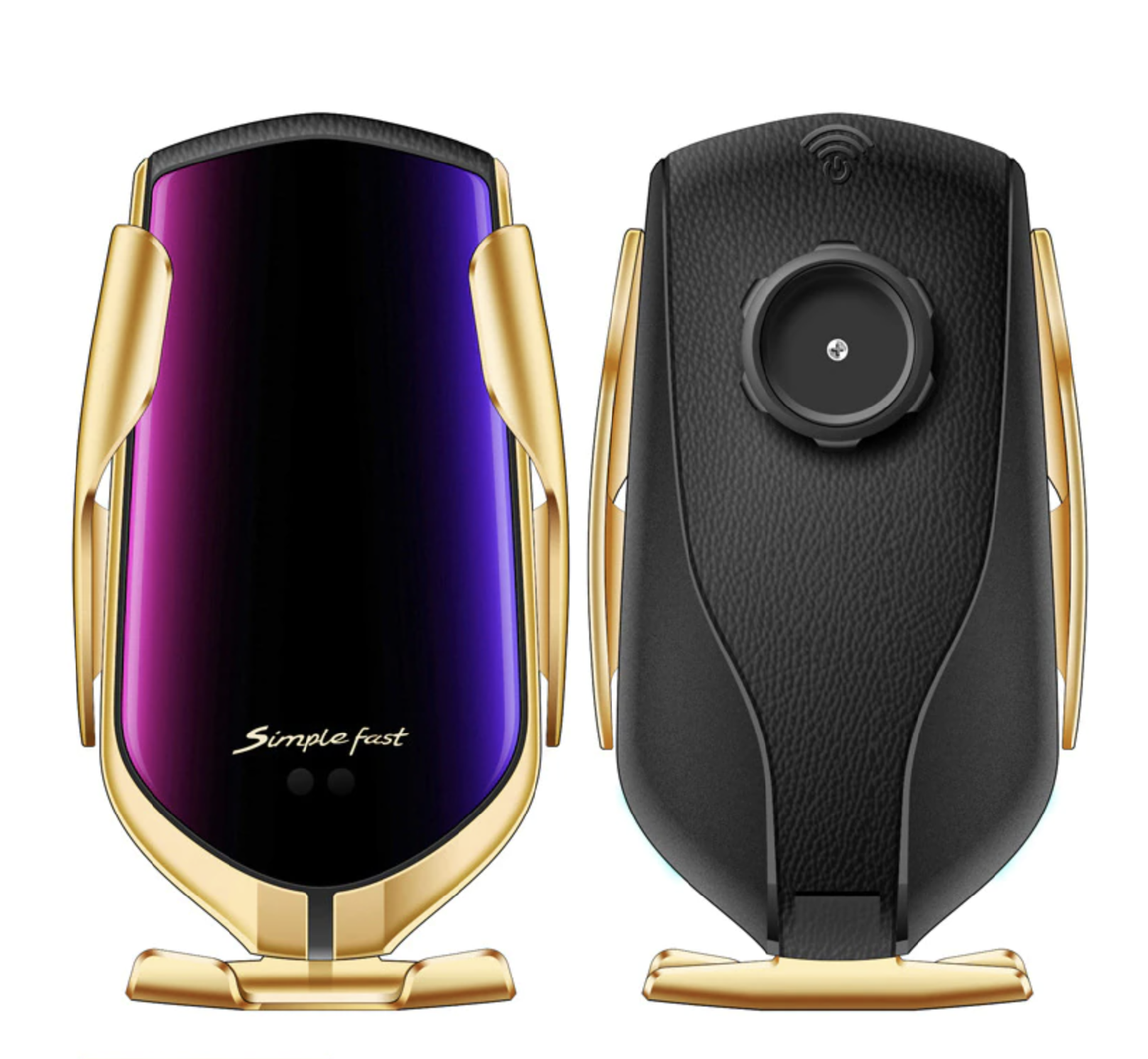 Chytrý držák mobilu do auta s bezdrátovou nabíječkou Barva: zlatá