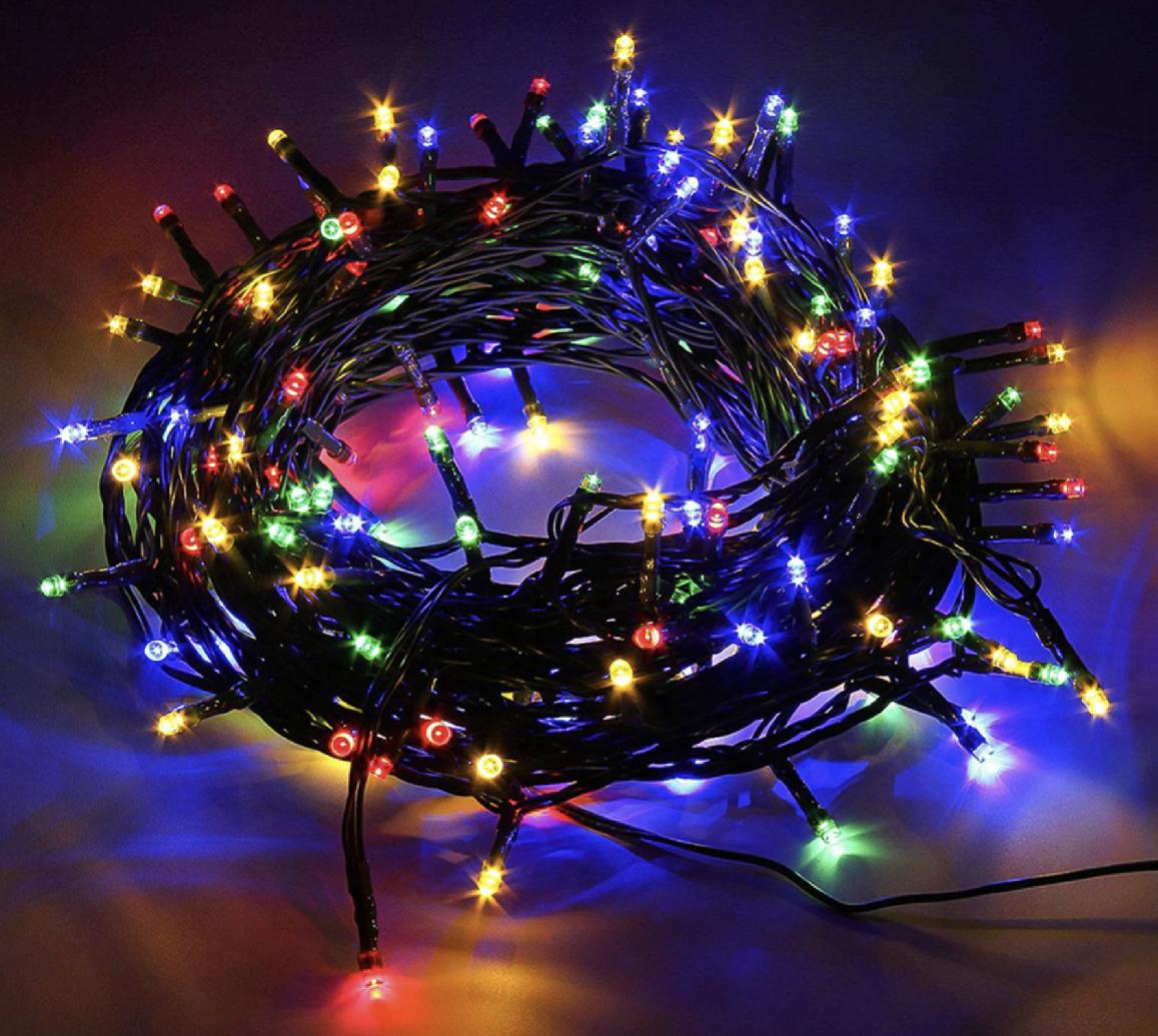 Venkovní Vánoční řetězy - LED osvětlení 10 metr Barva: barevná