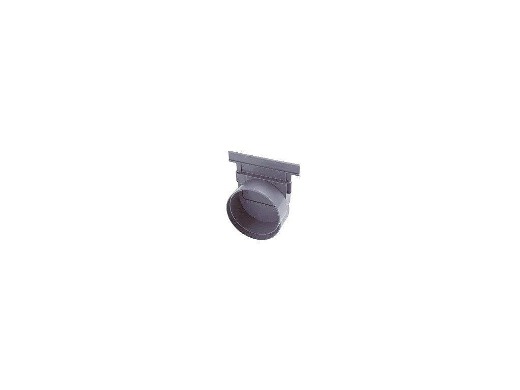 Koncovka + odtok žlabu pr.110mm pro žlab 1000x208