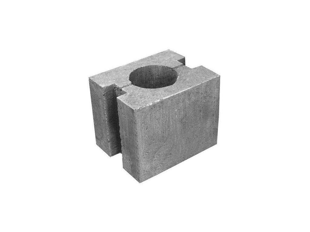 Plotová patka sloupku betonová 30 x 24 x 25 cm HRONEK