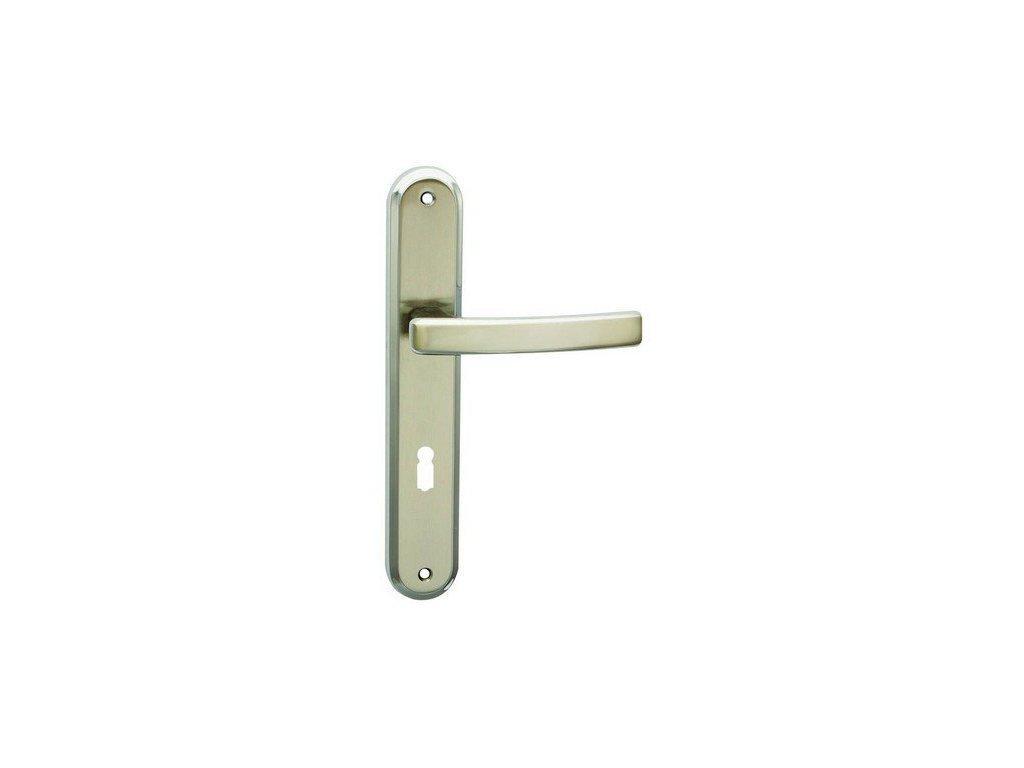 Interiérová klika dveřní GABRI niklové / chromové kování COBRA