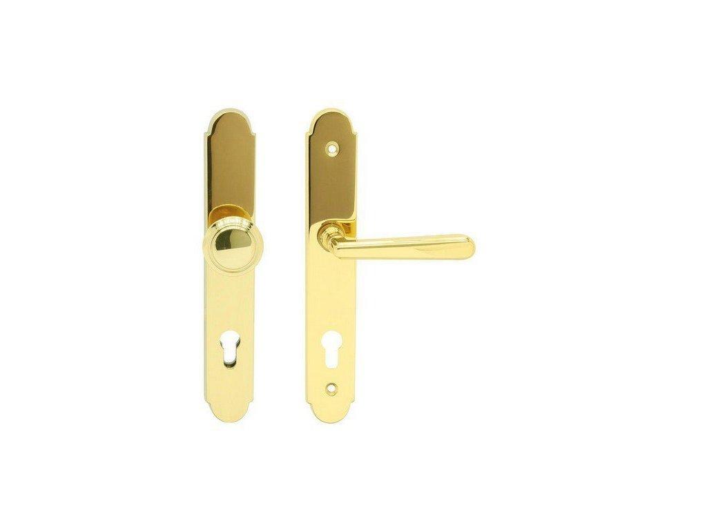 Bezpečnostní kování pro vchodové dveře ALT - WIEN OLV klika/koule