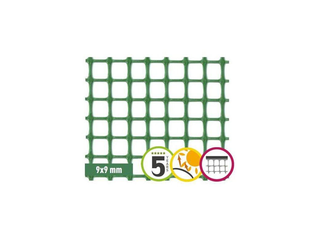 Plastová síť na plot 9 x 9 mm QUADRA 10 (0,5x5m)