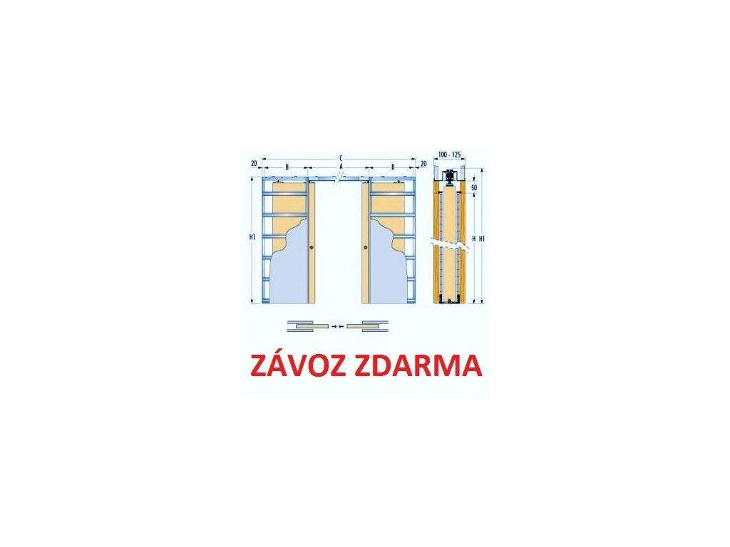 Stavební pouzdro ECLISSE 1000+1000 mm do sádrokartonu ZDARMA DOPRAVA