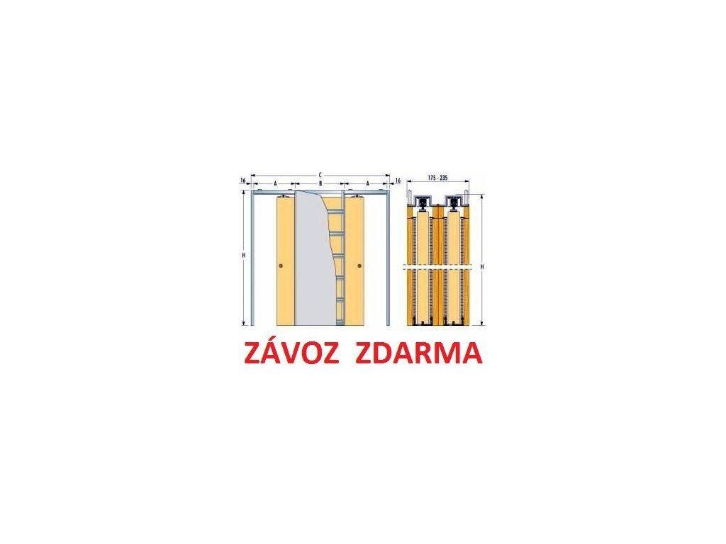 Stavební pouzdra ZÁKRYT do sádrokartonu 1000+1000mm