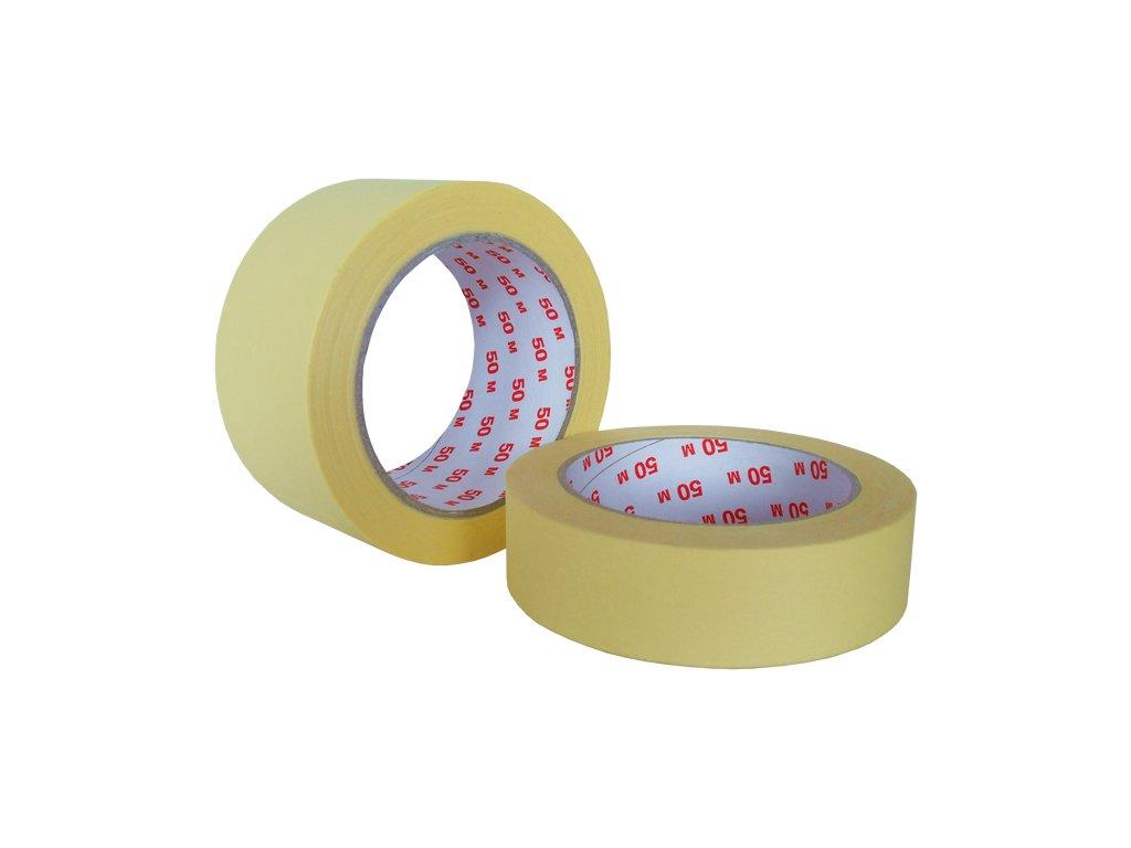 Lepící páska malířská krepová 60°C  - 25mm x 50m