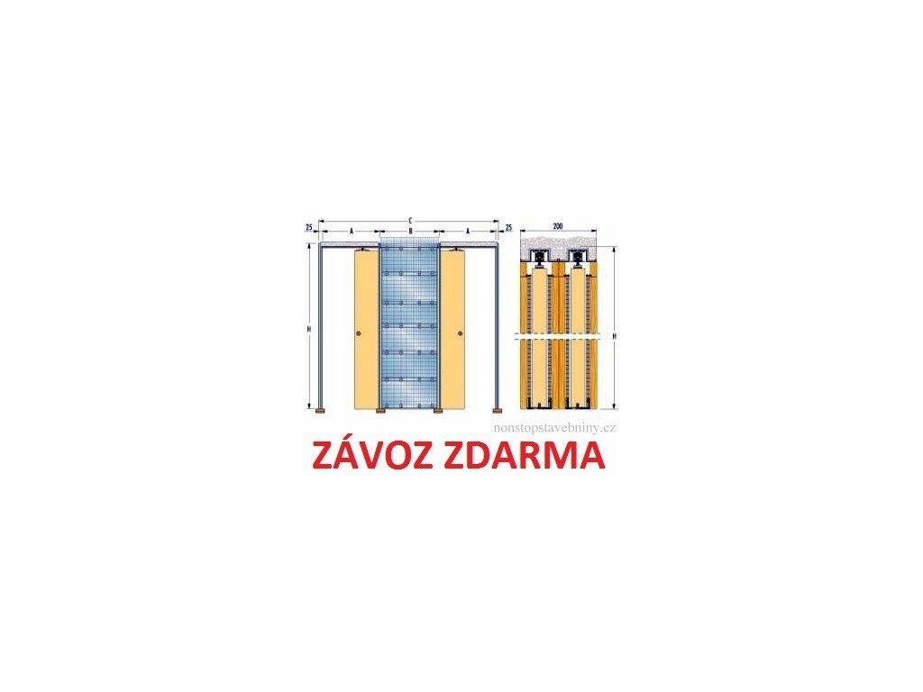 Stavební pouzdro do zdiva ZÁKRYT 1100+1100mm Eclisse