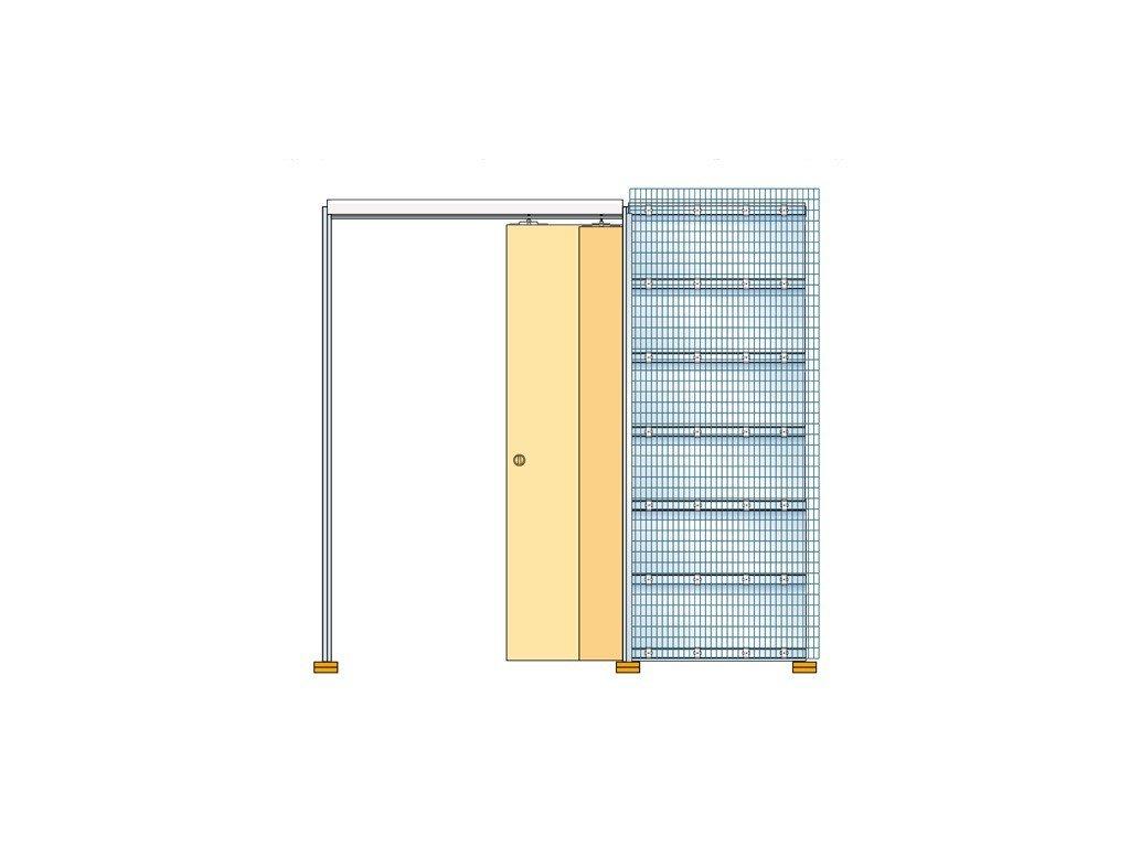 Stavební pouzdro TELESKOP 900+900mm do zdiva Eclisse