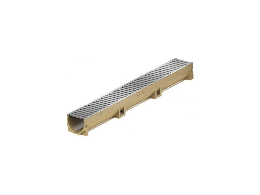 Odvodňovací žlab polymerbetonový - pozinkovaná mříž 0,5 m ACO EuroSelf