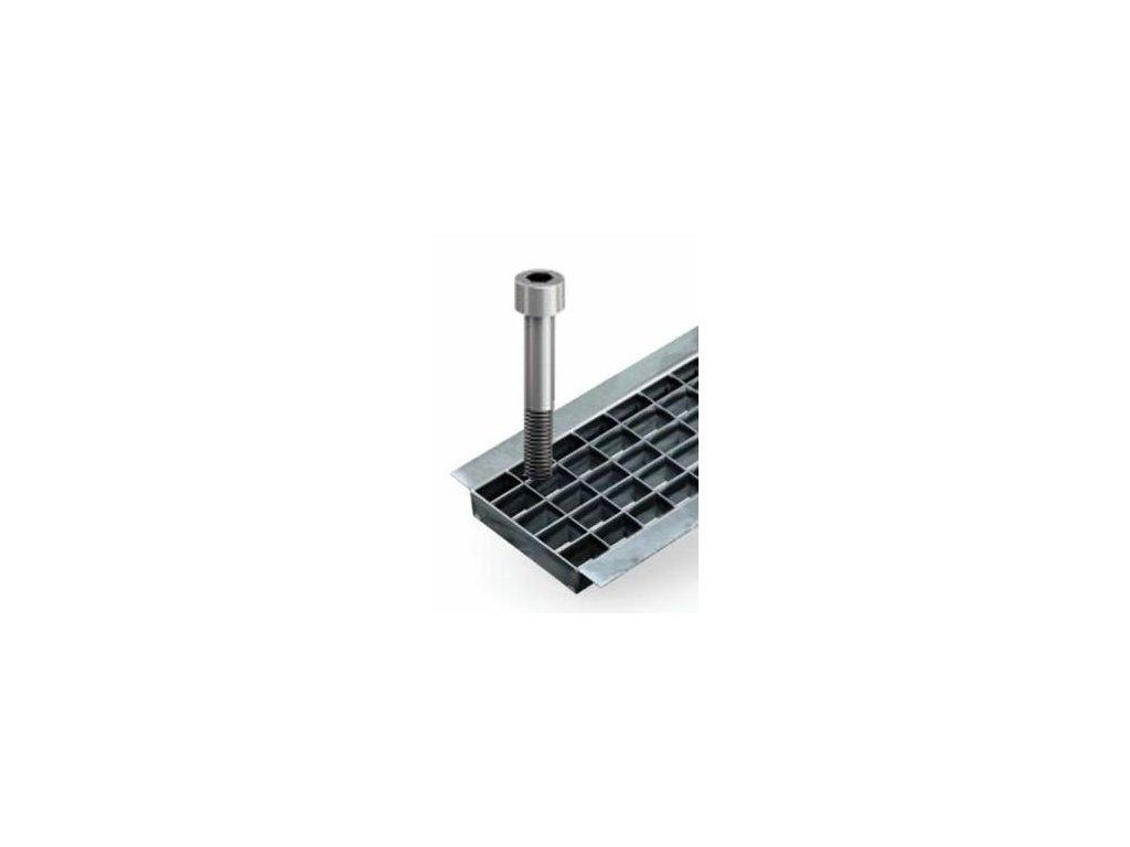 Aretace pro krycí rošt - mříž pozinkovaná mřížková ACO N100 (2ks/m)