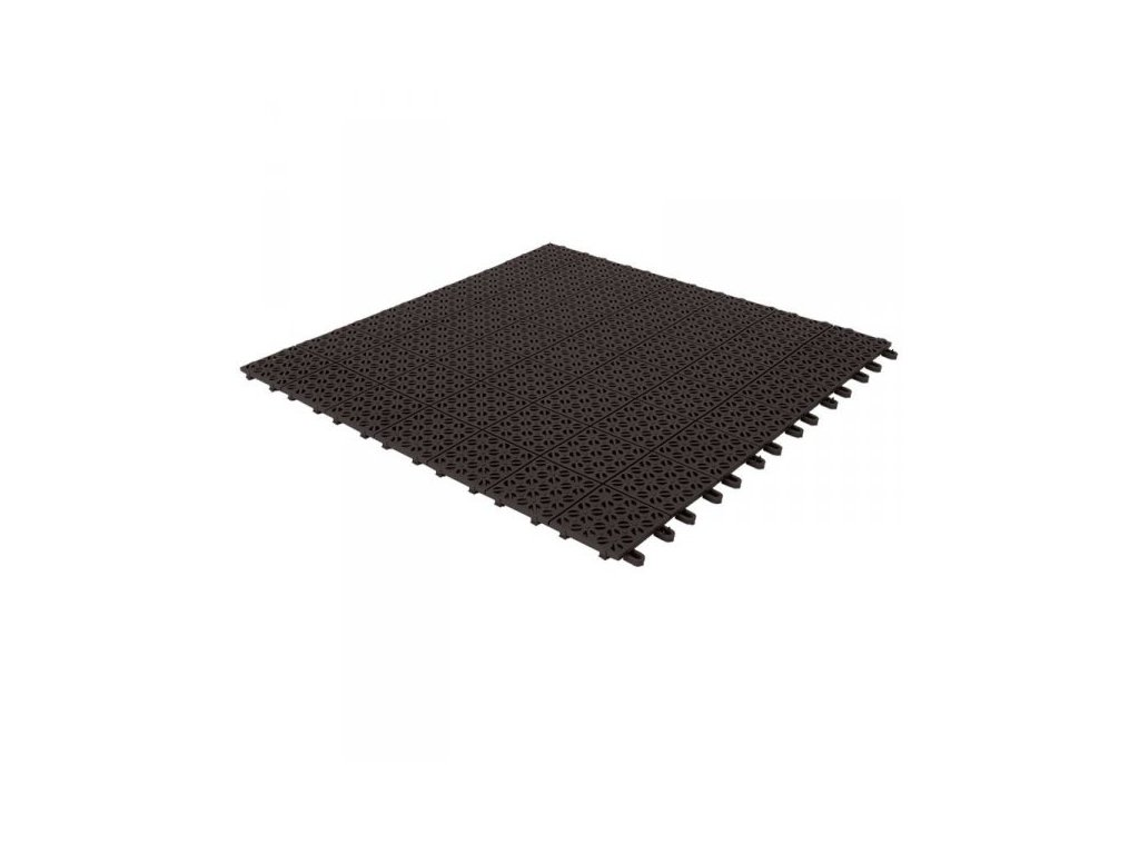 Plastová dlažba černá 55 x 55 x 1 cm podlahová krytina Multiplate