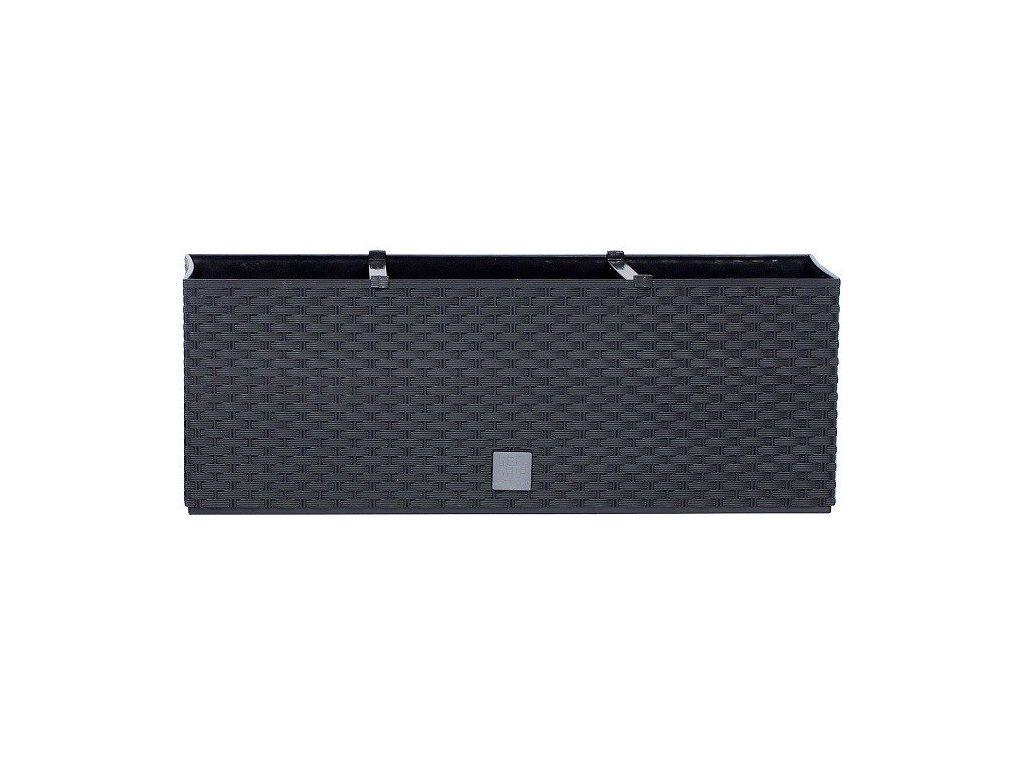 Plastové samozavlažovací truhlíky Rato Case antracit 51,4 x 19,2 cm