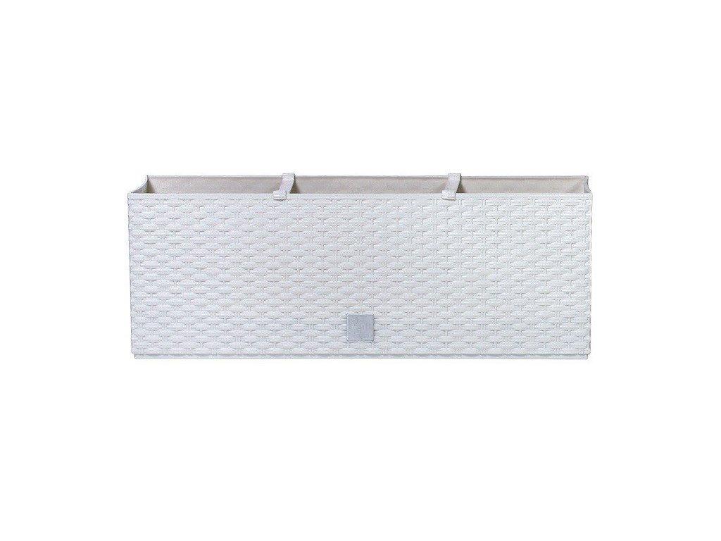 Plastové samozavlažovací truhlíky Rato Case bílý 60 x 25 cm