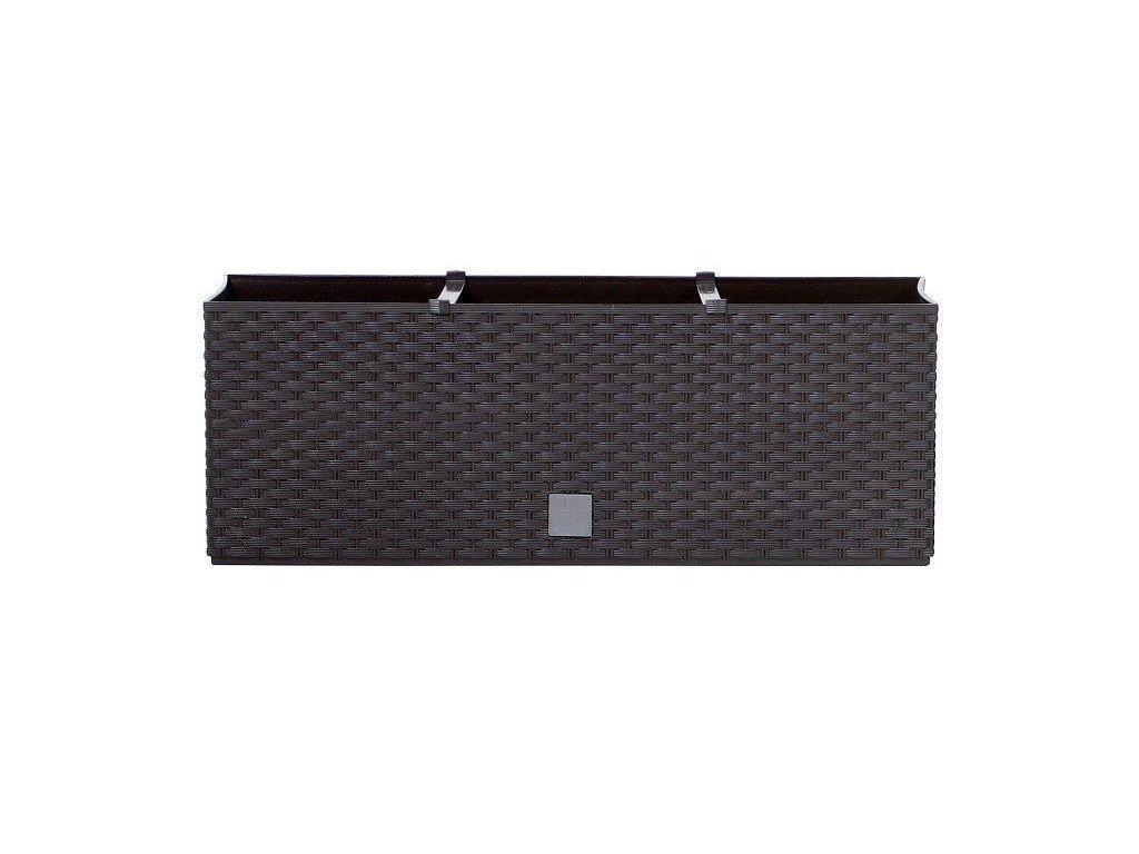 Plastové samozavlažovací truhlíky Rato Case hnědý 80 x 33 cm