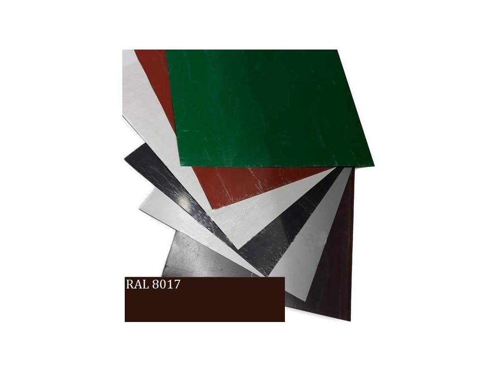 Rovinné plechy 0,5 tabule plechu 1,25 x 2 m RAL 8017 Blachotrapez