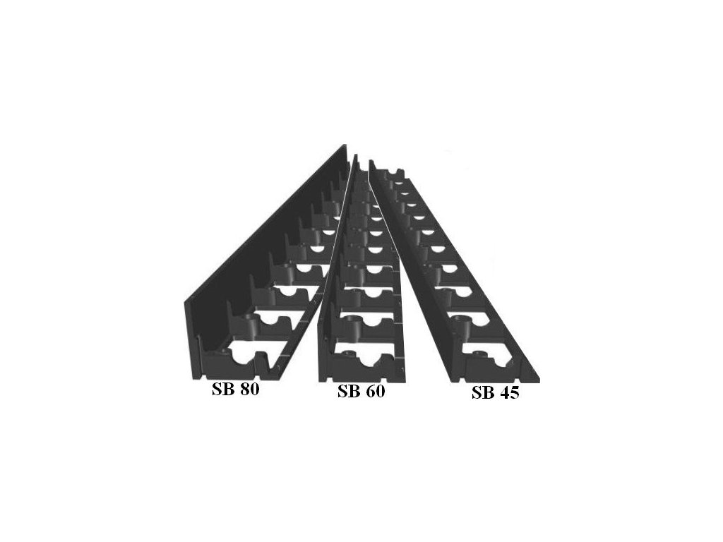 Neviditelný obrubník plastový SB 60 (1m) černý