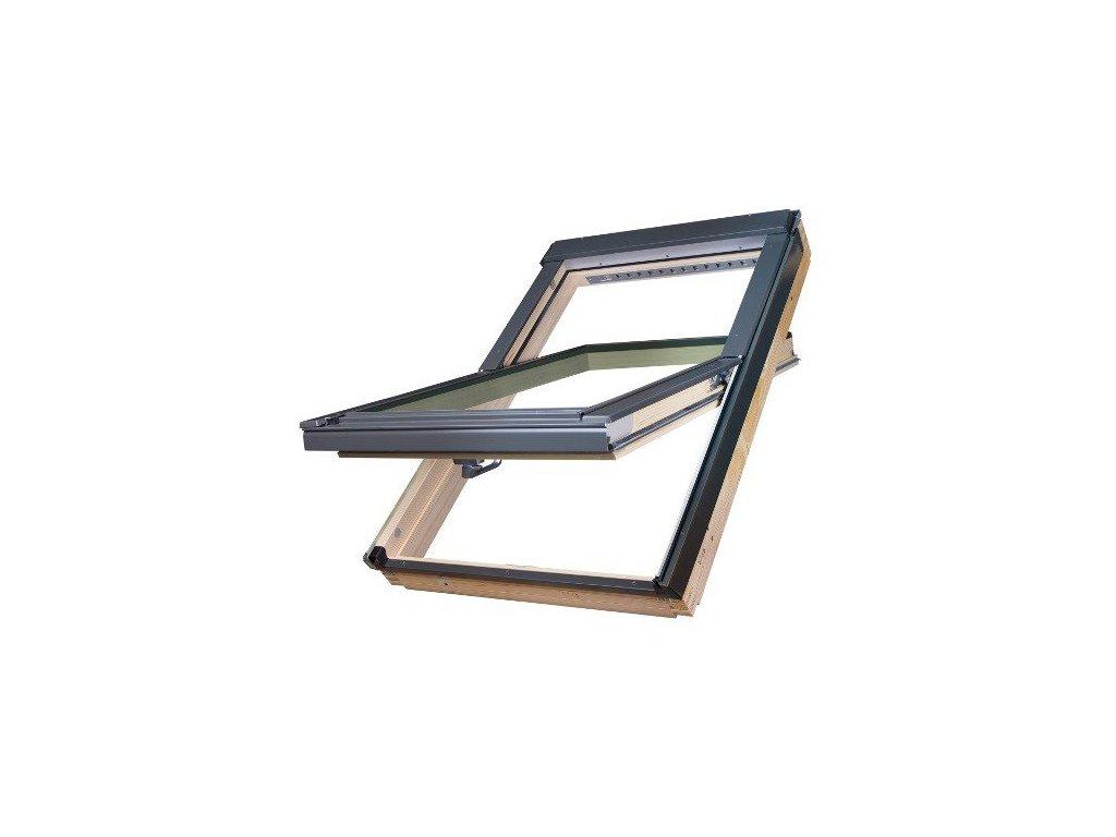 Střešní okna FAKRO dřevěné 78 x 140 cm FTP-V U5 trojsklo Thermo