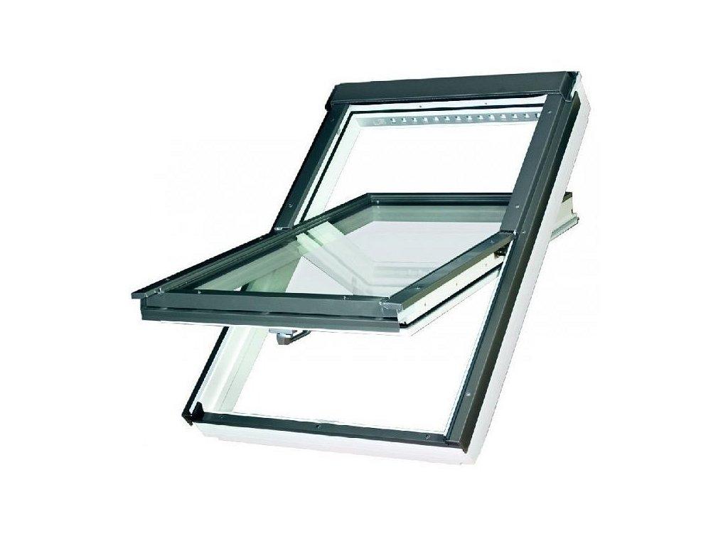 Střešní okno FAKRO 55 x 78 cm FTU-V U5 trojsklo Thermo