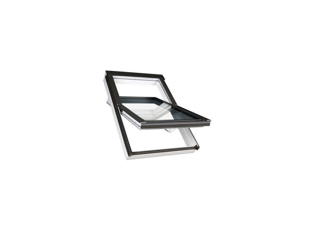 Střešní okno FAKRO plastové 66 x 140 cm PTP-V U5 trojsklo