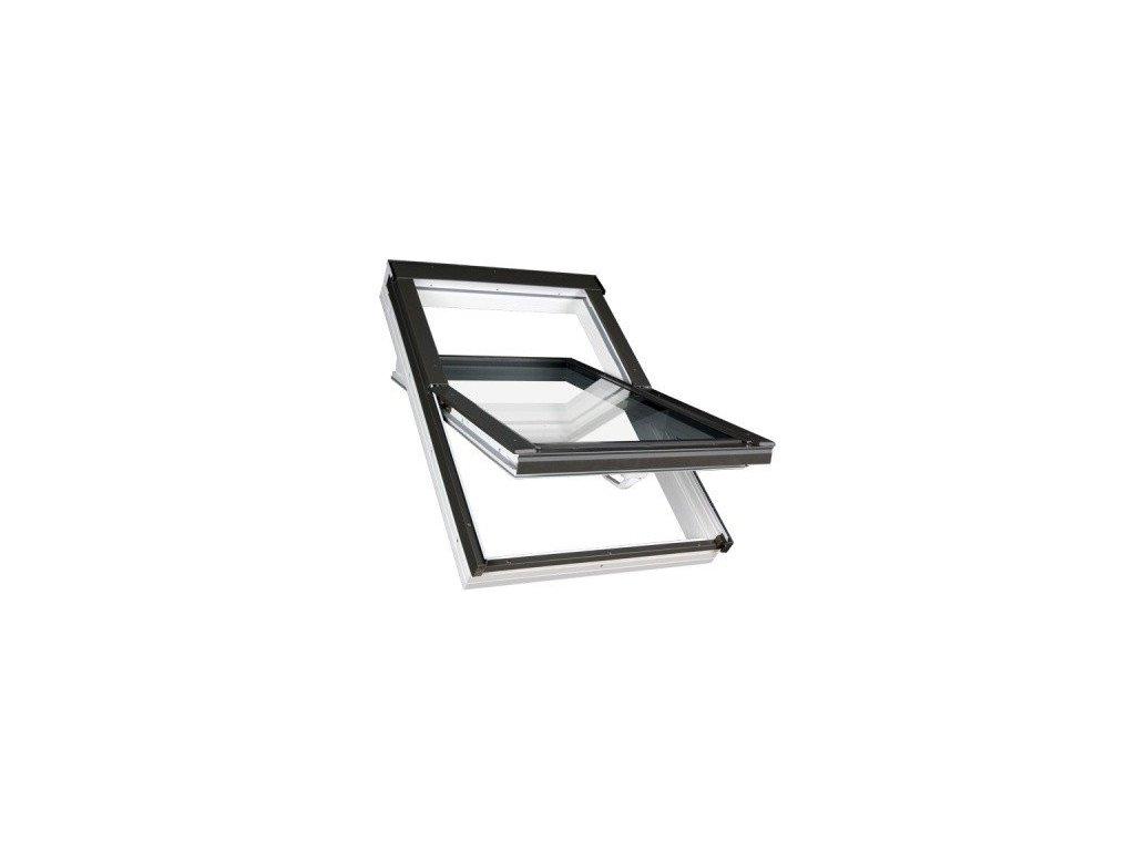 Střešní okno FAKRO plastové 78 x 118 cm PTP-V U5 trojsklo