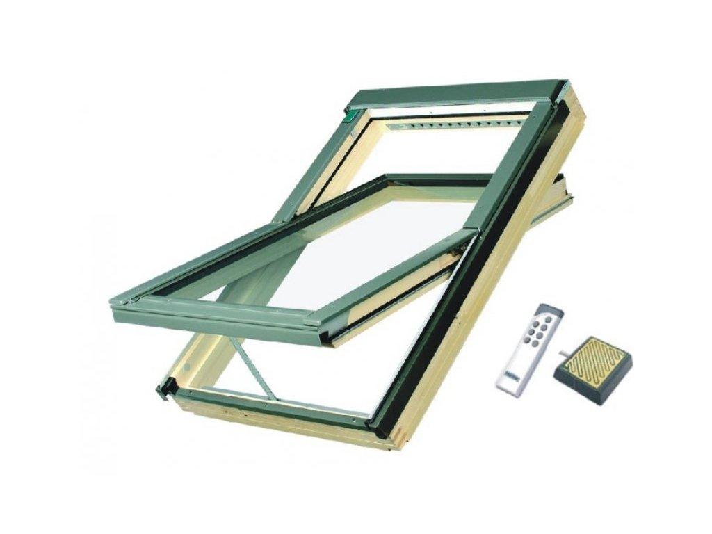 2764 stresni okno drevene fakro elektricke 66 x 98 cm ftp v u3 z wave