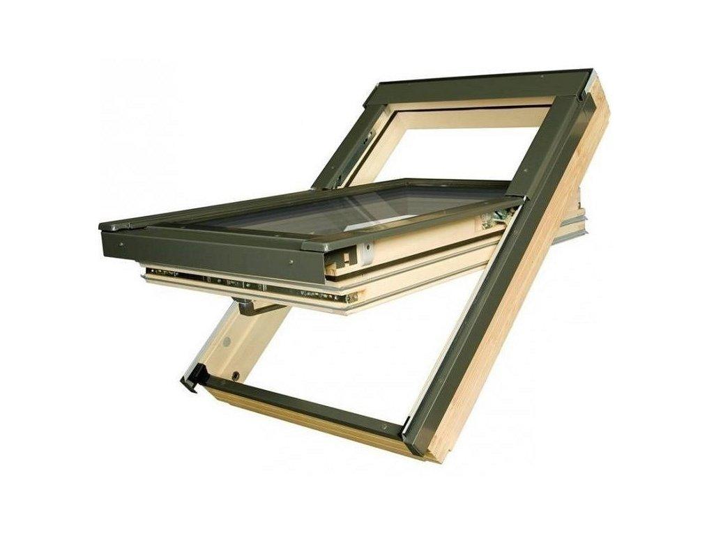 2848 stresni okna fakro 66 x 118 cm drevene ftt u6 bezpecnostni trojsklo