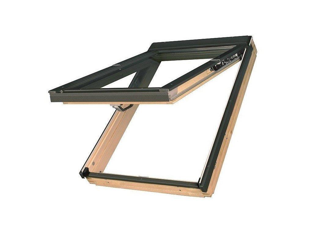 Střešní okna FAKRO dřevěná 134 x 98 cm FPP-V U5 preSelect trojsklo