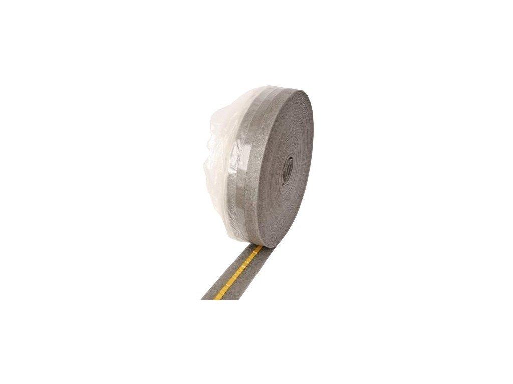 Dilatační pásek s fólií a samolepicí páskou 8 x 100 mm - role 50m