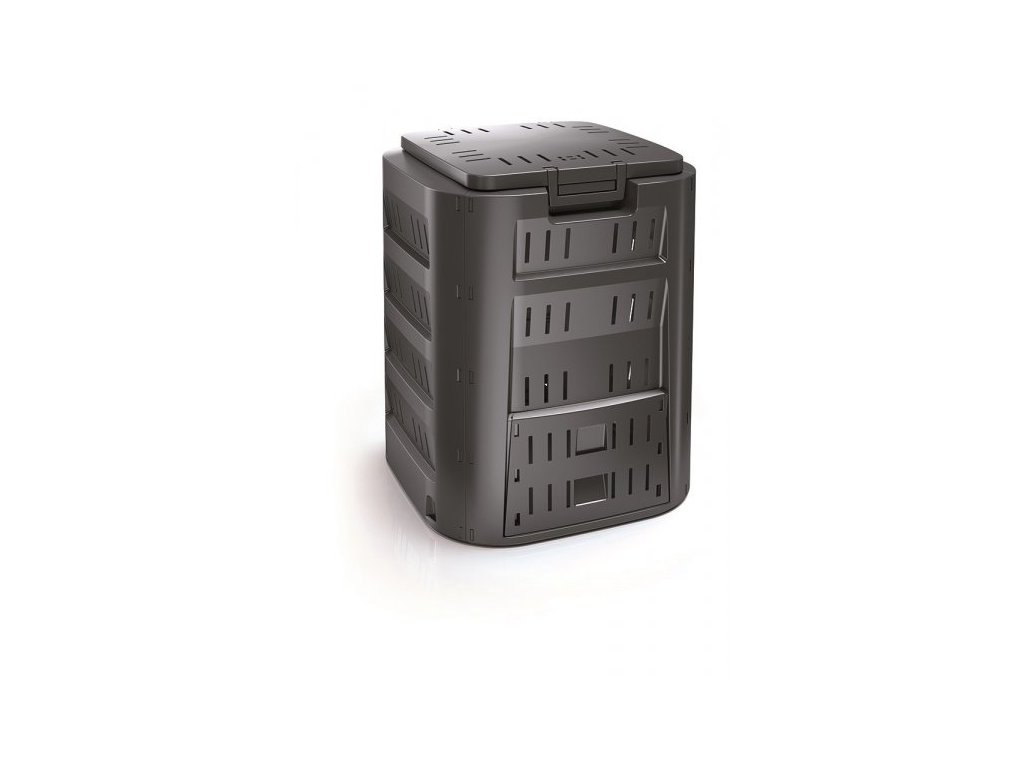 KompostérCompogreen 220 l v černé barvě.