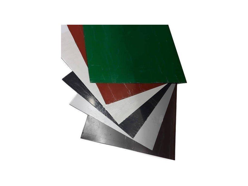 Blachotrapez Rovinné plechy 0,5 tabule plechu 1,25 x 2 m PLADUR lesklá