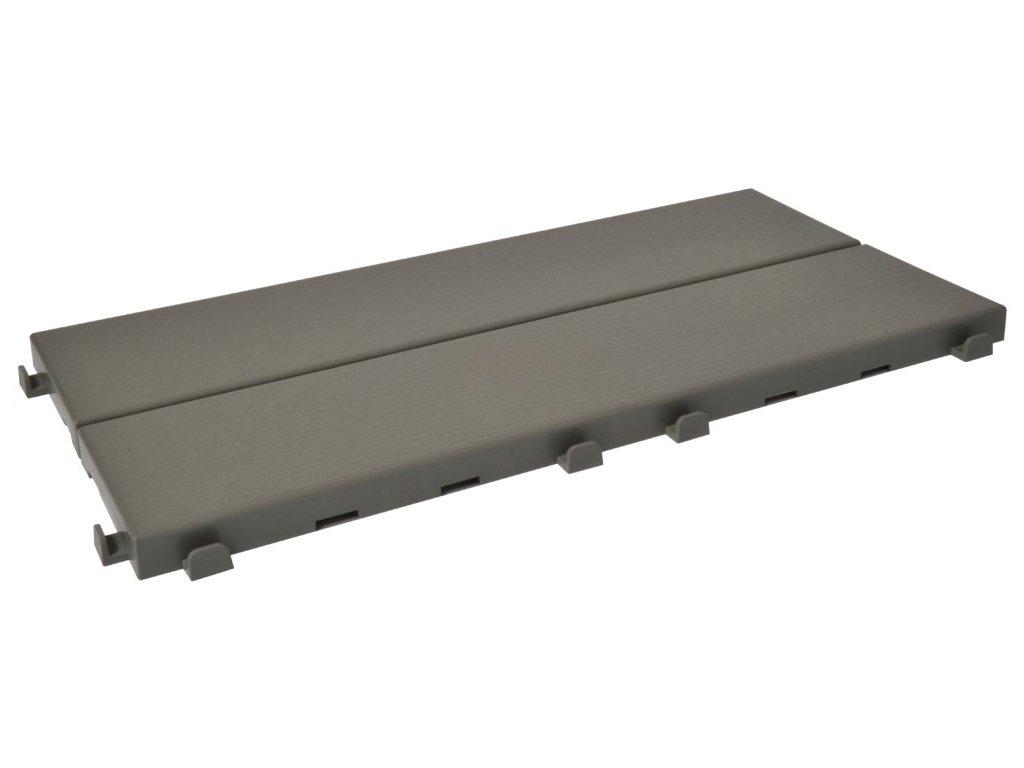 Plastová dlažba šedá 18,6 x 37,7 x 1,65 cm podlahová krytina Easyplate