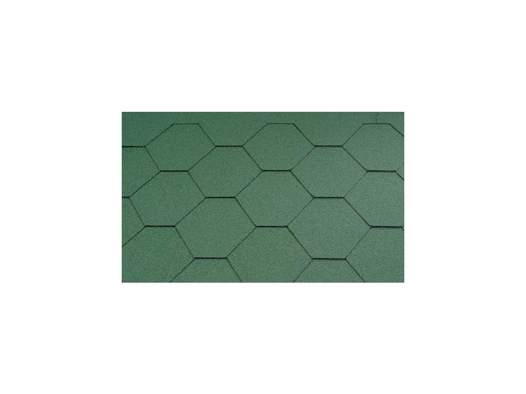 Asfaltový šindel střešní KL zelený KATEPAL