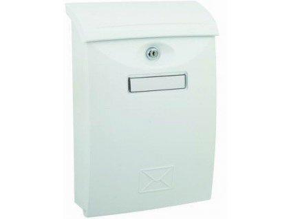 Poštovní schránka bílá plastová nástěnná 34x24x9cm