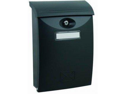 Poštovní schránka grafit plastová nástěnná 34x24x9cm