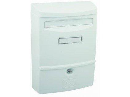 Poštovní schránka bílá plastová nástěnná 38,3x27,2x11,3cm