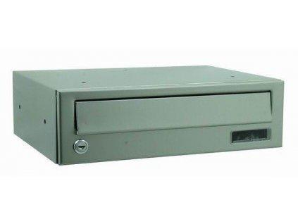 Poštovní schránka nerez / pozink šedá plech 11 x 30 x 38,5 cm VÝPRODEJ