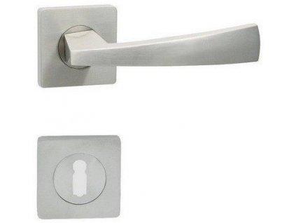 Dveřní klika na dveře BEATA - S matné niklové kování COBRA