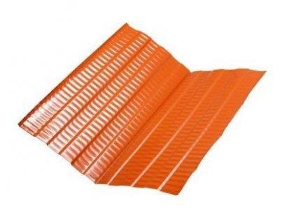 Střešní úžlabí typ Plus hliníkové 2 x 0,5 m červenohnědé