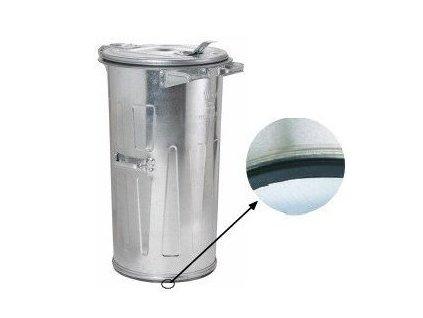 Kovová kulatá popelnice 110 litrů pozinkovaná