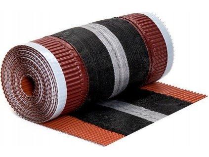 Hřebenový pás nárožní cihlový 310x5000mm DACHROL