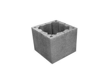 Komínová tvárnice LEHČENÁ betonová 40 x 40cm komínovka HRONEK