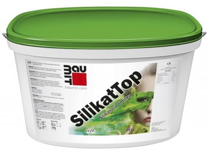 Baumit silikátová omítka - SilikatTop - 1,5 mm škrábaná